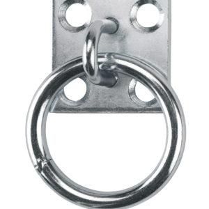 MUURPLAAT MET RING 49X49MM.Ø65MM.