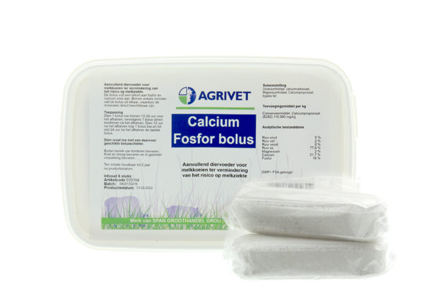 CALCIUM FOSFOR BOLUS AGRIVET 6ST.